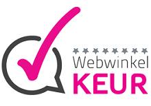 Deze Webswinkel is goedgekeurd door Stichting WebwinkelKeur Webwinkel Keur is het keurmerk dat meer transparantie en veiligheid brengt in de markt van het online winkelen. Wij zorgen ervoor dat webwinkeliers eerlijk en transparant beoordeeld worden en u kunt uw ervaringen met een webwinkel delen. Op deze manier worden webwinkels zowel door U als door ons beoordeeld. Dubbele zekerheid dus! Op zoek naar een aangesloten webwinkel of uw ervaring delen? Bekijk dan ons overzicht deelnemers en doe zaken met één van de vertrouwde deelnemers.