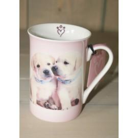 Mok met twee hondjes 10 x 7,5 cm