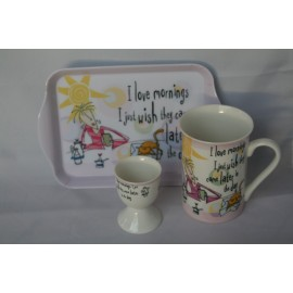 Tea for one breakfast set roze