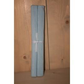 Placemat lichtblauwe stof set van 2 47x 33 cm