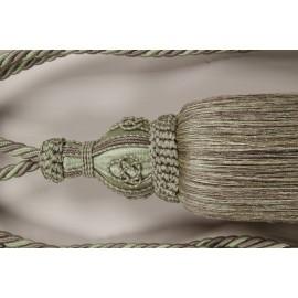Tassel groen XL 80 cm ook wel sleutelkwast genoemd