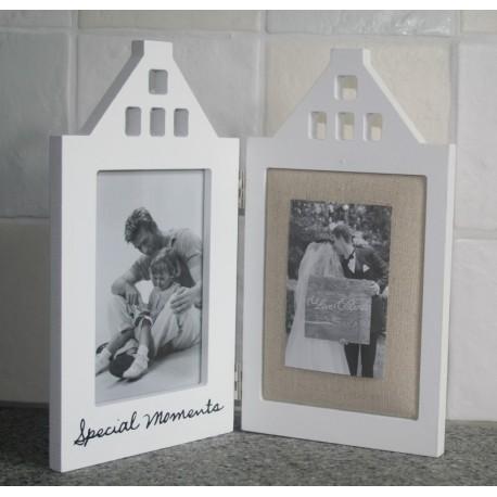 Fotolijstje /prikbord houten huis