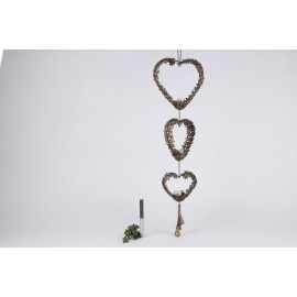 Garland Hearts W/t-light 104 x 29 x 8 cm