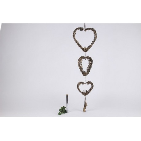 Garland Hearts W/t-light 104 x 29 x 8 cm