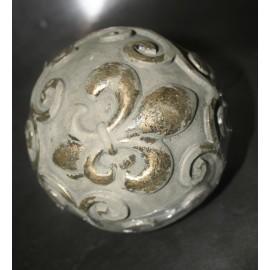 Decoratiebal Beige Franse Lelie (A) 10 cm