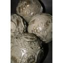 Decoratiebal Beige Sierlijke bloem barok grof (B) 10 cm