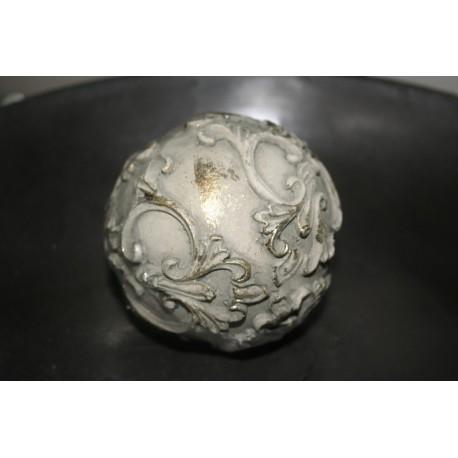 "Decoratiebal ""shiny silver"" 10 cm, prijs per stuk"