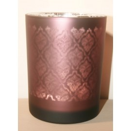 Windlicht Oosters glas Aubergine Medium / Licht (A)