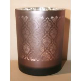 Windlicht Oosters glas Aubergine Medium / middel (B)