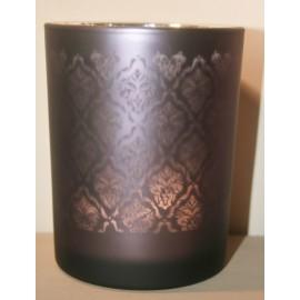 Windlicht Oosters glas Aubergine Medium / donker (C)