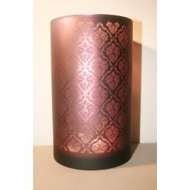 Windlicht Oosters glas Aubergine Large / Licht (A)