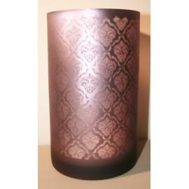 Windlicht Oosters glas Aubergine Large / middel (B)