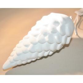 Denappel hanger wit aardewerk 16 cm