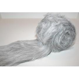 Lint imitatiebont polyester grijs 8 x 200 cm