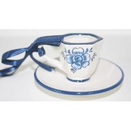 Hang kop -en schotel delfts blauw (B) 8 x 8 x 4cm
