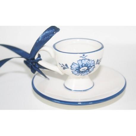 Hang kop -en schotel delfts blauw (C) 8 x 8 x 4cm