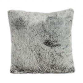 Grey fur Cushion 45 x 45 cm
