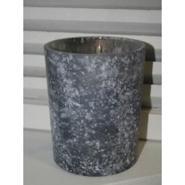 Glass Hurricane Rough Grey S 10 x12,5 cm
