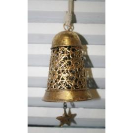 Metalen bell gold 10 cm