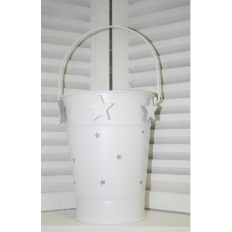 Metal Bucket Star L 27 x 22 cm
