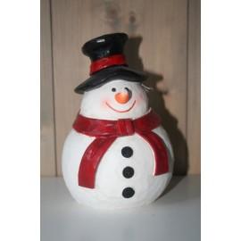 Sneeuwpop hout 15 cm