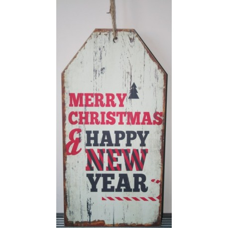 Sign Large 60 x 30 cm beige merry christmas