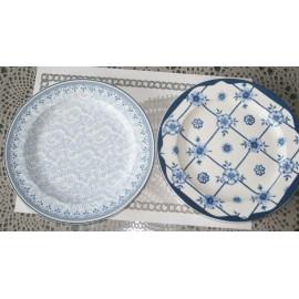 Set van 2 Borden Delfts Wit/ Delftsblauw, 19 cm