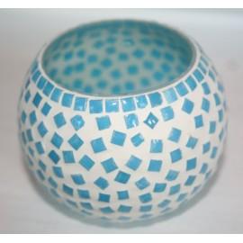 Waxinehouder azuur mozaiek 9 cm