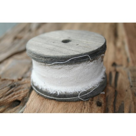 Fabric Ribbon White wash