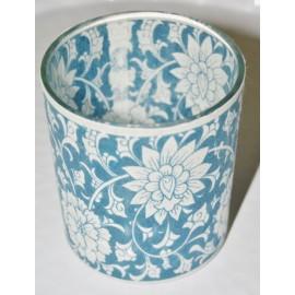 T-lh patroon blauw/wit S Licht