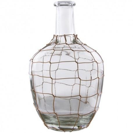 Glass Vase copper Wire 26cm
