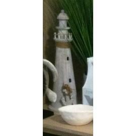 Vuurtoren wit Large 54x18cm