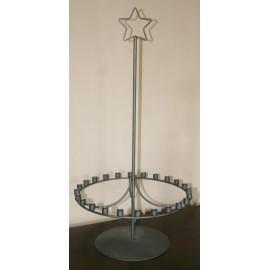Kaarsenhouder staal tbv 24 kaarsen 65 x 32 cm