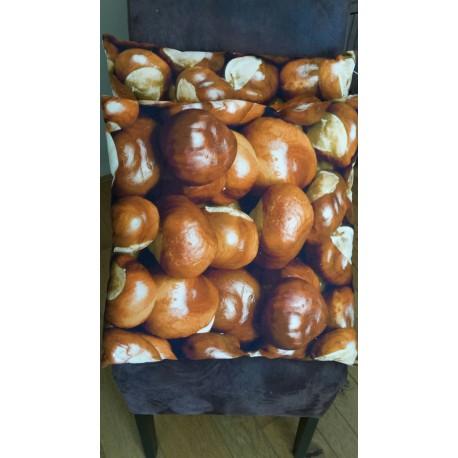 "Kussen natuur ""Acorn/ eikel"" 50 x 50 cm"