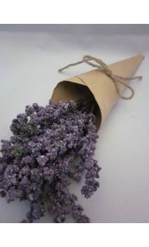 Lavendelbundel in papier 33 cm