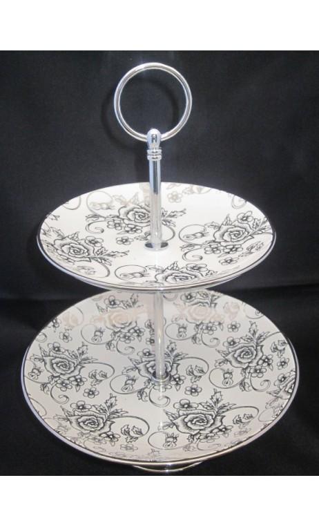 Etagere zilver/rozen