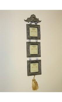 Drieluik fotolijstjes aan een lint 60cm