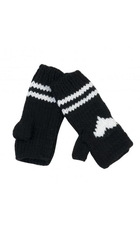 Winterwanten zwart zonder vingertoppen