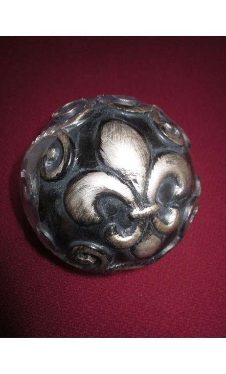 Decoratiebal zwart 10 cm per stuk