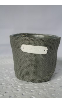 Cache-pot of sierbloempot taupe 11 cm