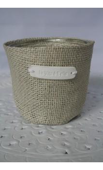Cache-pot of sierbloempot beige 11 cm