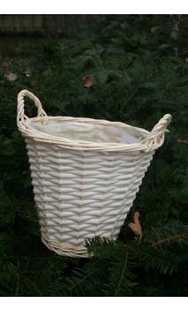 Mandje wit wilgenhout medium