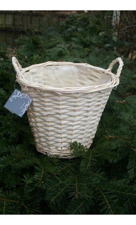 Mandje wit wilgenhout large