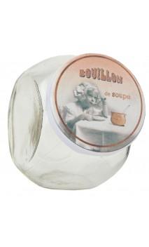 Voorraadpotje met nostalgisch deksel bouillon de soupe