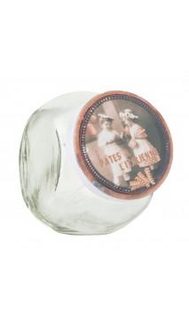 Glazen voorraadpotje met deksel pâtes a l'Italienne