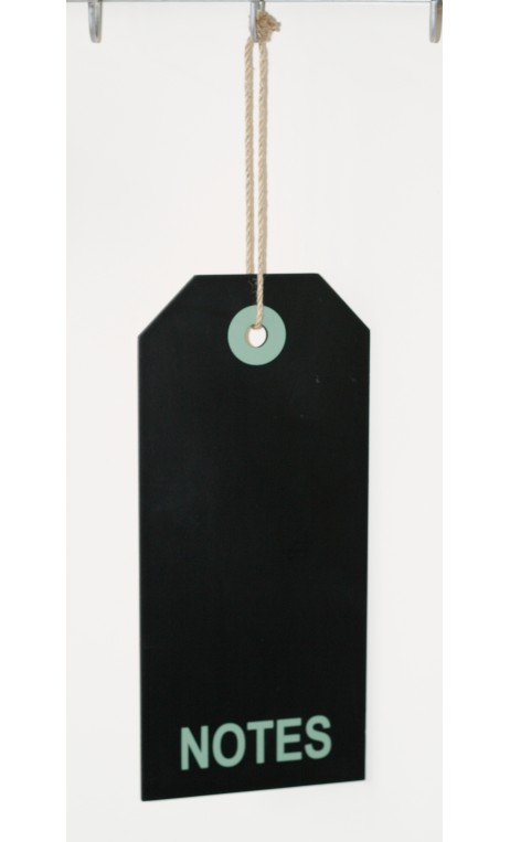 Krijtbord LABEL vorm met Notes 35 cm
