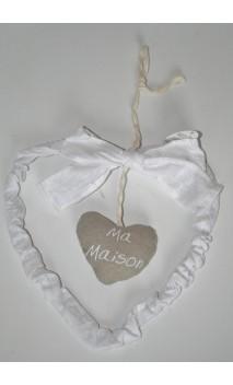 Hanger Ma Maison wit met geur 22 *20 cm