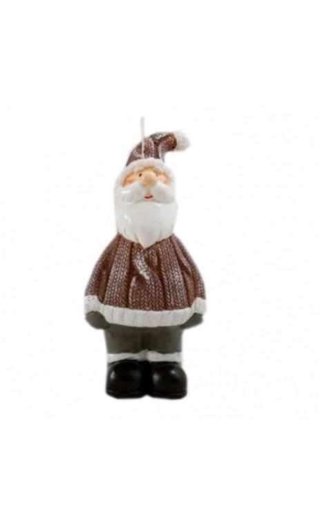 Kerstman kaars 15 cm