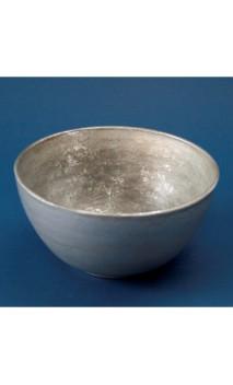 "Houten ""bowl"" zilver 17.5 X 9 cm"