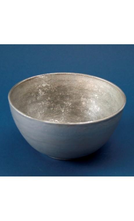 Wooden bowl, zilver 17.5 X 9 cm